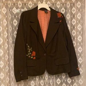 Tweed lined blazer embroidered 20W